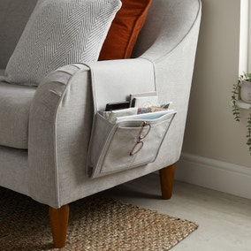 Timeless Faux Linen Sofa Caddy