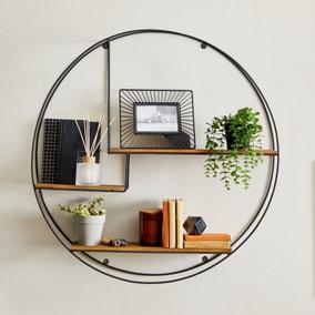 Industrial Extra Large Circle Shelf