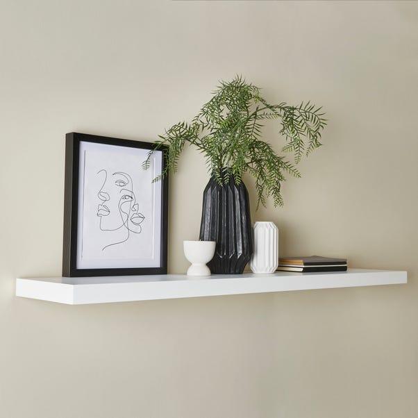 White Floating Shelf  undefined
