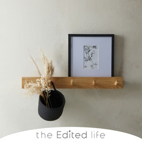 5 Ash Wood Hooks