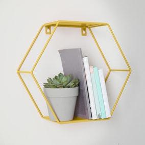 Mustard Hexagonal Shelf