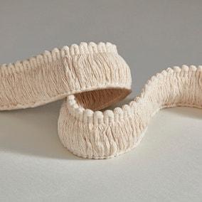 Natural Cotton Ruche Fringe