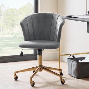 Kendall Velvet Office Chair