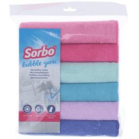 Sorbo Bubblegum Microfibre Clothes 6 Pack