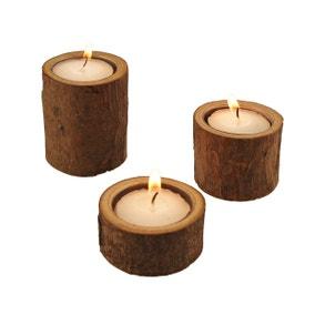 Wooden Tealight Holders Set of 3