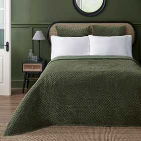 Dorma Purity Green Genevieve Bedspread