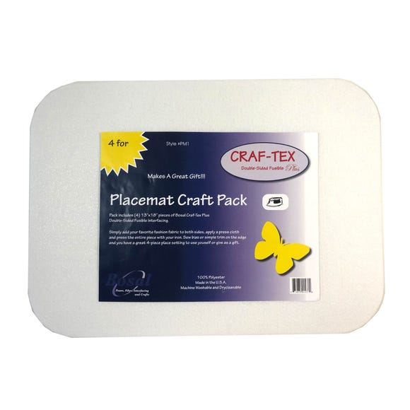 Rectangle Craft Placemat White