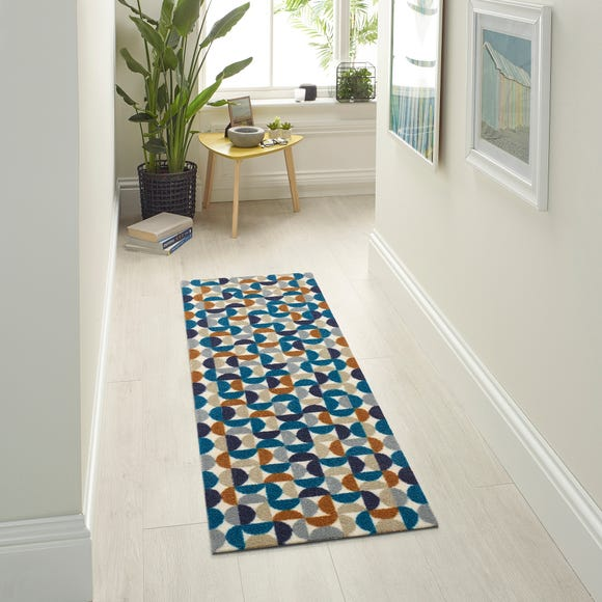 Marvel Dahl Washable Doormat Teal (Blue) undefined