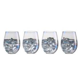 Set of 4 Lustre Stemless Glasses