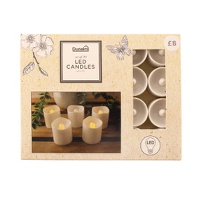 Pack of 20 White LED Candles