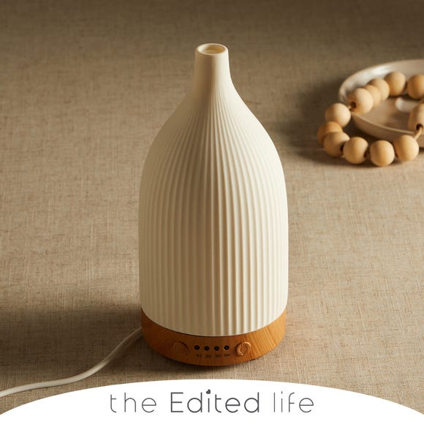 White Ceramic Electric Diffuser White