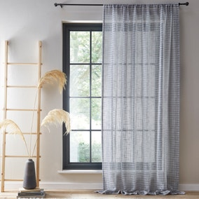 Checked Semi Sheer Voile