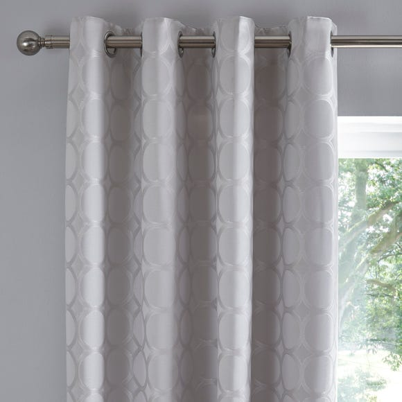 Delphi Silver Eyelet Curtains  undefined