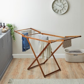 Acacia Wood Airer with Wings