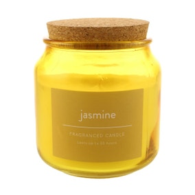 Pack of 3 Jasmine Jar Candles with Cork Lid