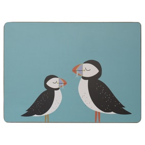 Set of 4 Puffin Cork Back Placemats