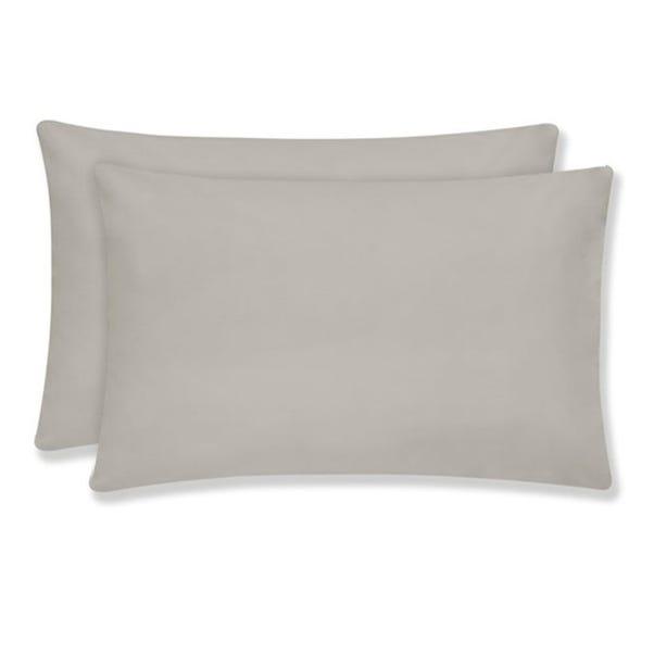 Plain 180 Thread Count Cotton Comfort Housewife Pillowcase Pair Silver