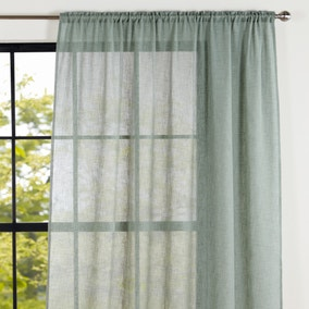 Recycled Polyester Sage Slot Top Voile Panel