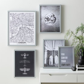 Pack of 5 Industrial Posters