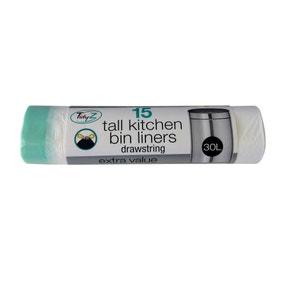 Slim Bin Liner 30L 15 Pack