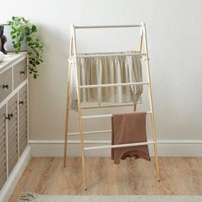 Ladder Bamboo Cream Indoor Airer