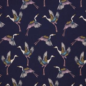 Japanese Cranes Craft Cotton Poplin