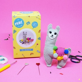 The Make Arcade Llama Felt Craft Kit