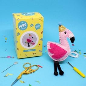 The Make Arcade Flamingo Felt Craft Kit
