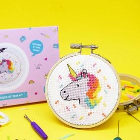 The Make Arcade Unicorn Mini Cross Stitch Kit