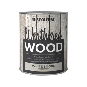 Rust-Oleum White Smoke Matt Weathered Wood Paint 750ml