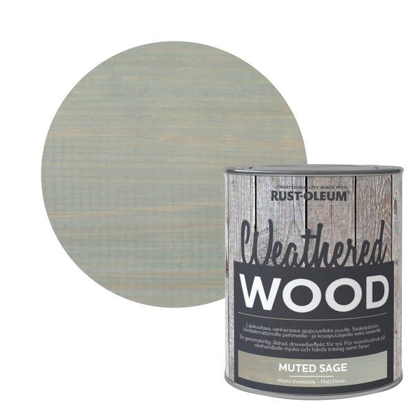Rust-Oleum Muted Sage Matt Weathered Wood Paint 750ml