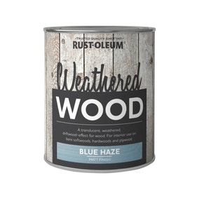 Rust-Oleum Blue Haze Matt Weathered Wood Paint 750ml
