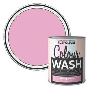 Rust-Oleum Pearl Pink Colour Wash Paint 750ml