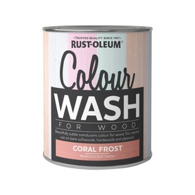 Rust-Oleum Coral Frost Colour Wash Paint 750ml