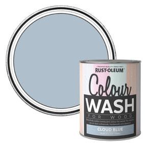 Rust-Oleum Cloud Blue Colour Wash Paint 750ml