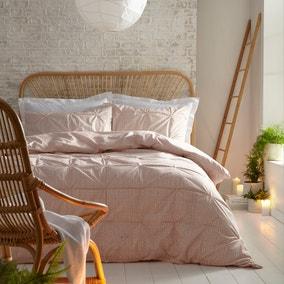 Appletree Luminia Coral 100% Cotton Duvet Cover and Pillowcase Set