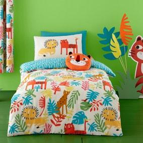 Cosatto Tiger Tropics 100% Cotton Reversible Duvet Cover and Pillowcase Set