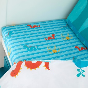 Cosatto Sea Monsters 100% Cotton Fitted Sheet Twin Pack