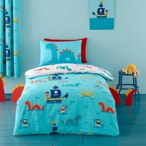 Cosatto Sea Monsters 100% Cotton Reversible Duvet Cover and Pillowcase Set