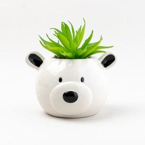 Artificial Plant in Teddy Bear Pot