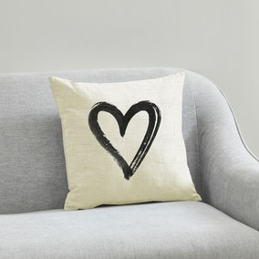 Painted Heart 43x43cm Cushion