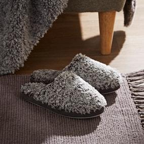 Teddy Bear Feather Soft Marl Slippers
