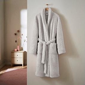 Teddy Bear So Soft Silver Dressing Gown