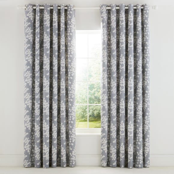 Ginkgo Patchwork Pink and Mustard Eyelet Curtains  undefined