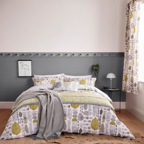 Helena Springfield Unna Chartreuse Reversible Duvet Cover and Pillowcase Set