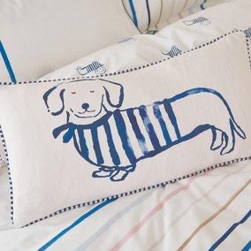 Joules Coastal Sausage Dog Cushion