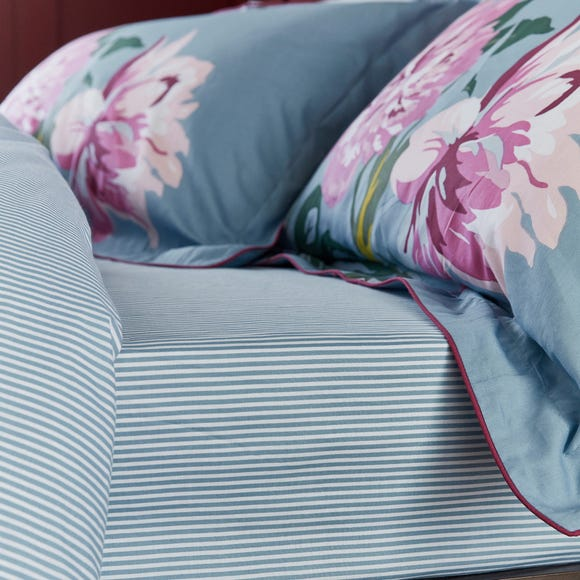Joules Melrose Floral Blue 100% Cotton Fitted Sheet  undefined