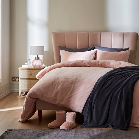 Teddy Bear Duvet Cover and Pillowcase Set Teddy Blush Pink undefined
