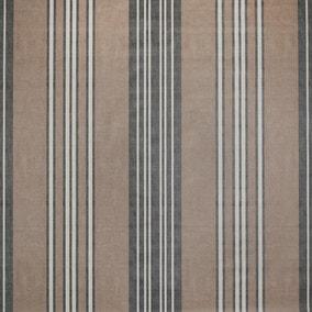 Salcombe Stripe Charcoal PVC Fabric