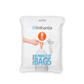 Brabantia Perfectfit Pack of 60 Size B 5 Litre Bin Bags